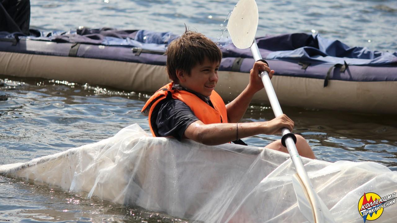 <span>Вернуться с острова на самодельном плавательном средстве</span>