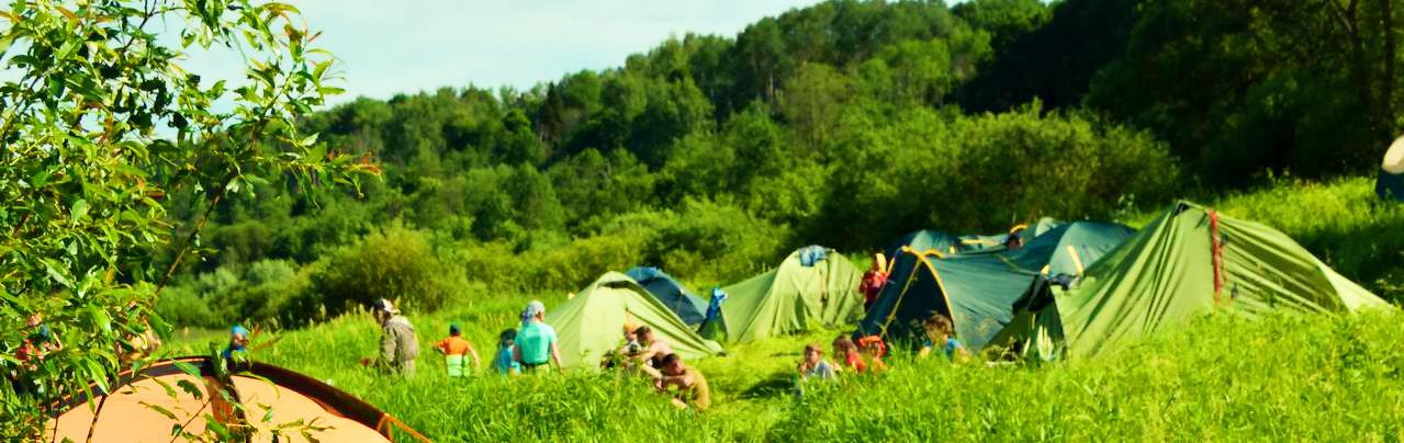 <span>Ставить палатки, разводить костёр, собирать лагерь</span>