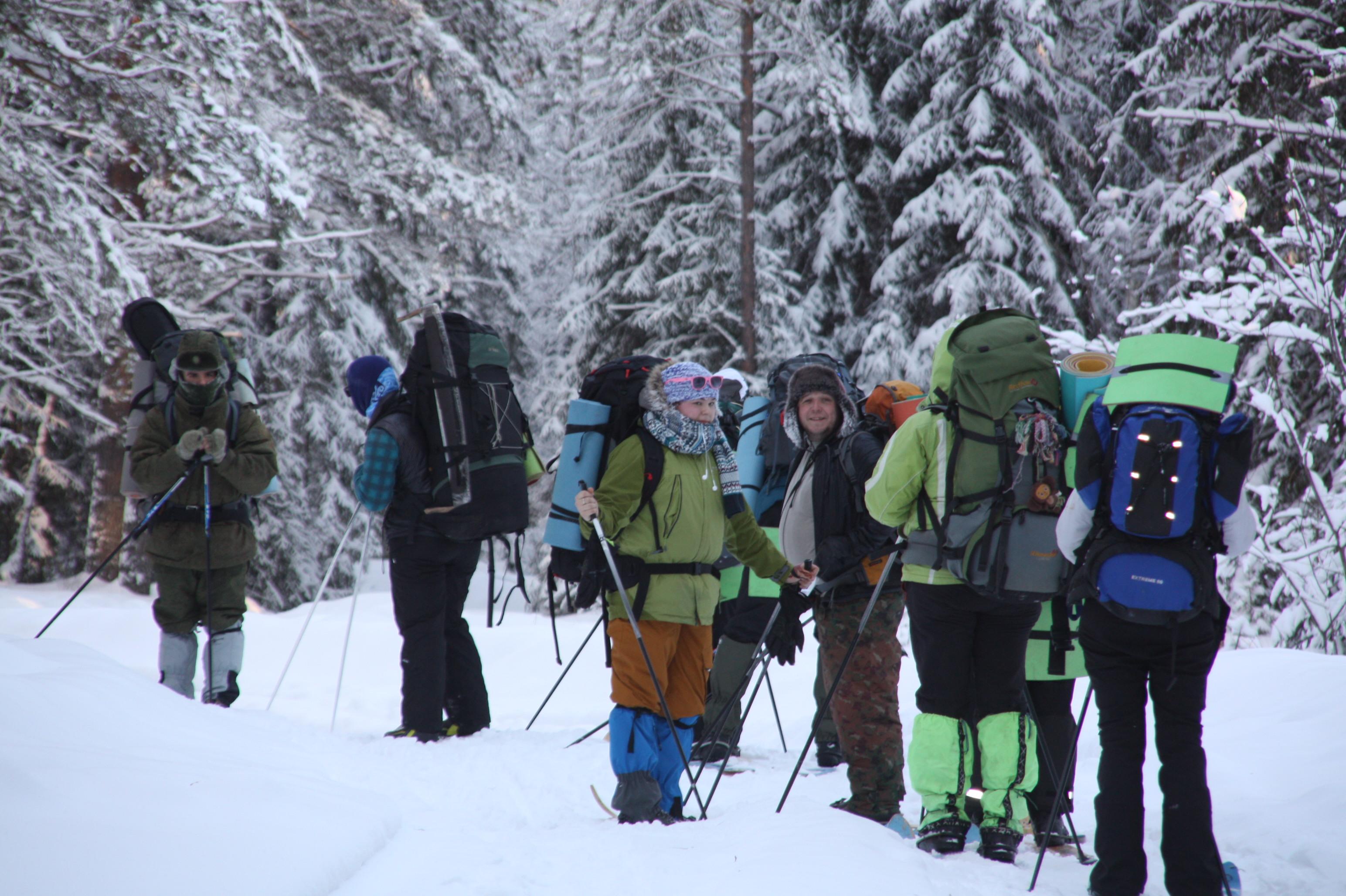 <span>Небывалое приключение с ночевками в зимнем лесу</span>